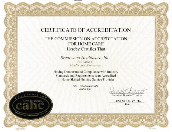 CAHC Certificate